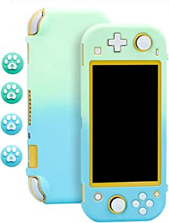 Protective Case for Nintendo Switch Lite with 4 Thumb Grip Caps - Portable Unique Gradient Color Carrying Case - fit for N...