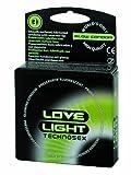 LoveLight Technosex - 3 preservativos que brillan en la oscuridad