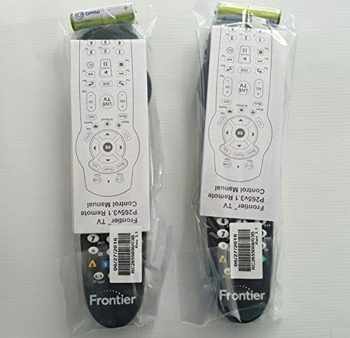 Set of TWO Verizon FiOS TV Replacement Remote Controls by Frontier works with Verizon FiOS systems, Model: p265