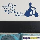 Supersticki® - Adhesivo de pared (50 x 100 cm, lámina de alto rendimiento, para todas las superficies lisas, resistente a los rayos UV y al túnel de lavado, calidad profesional)