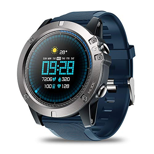 Zeblaze Vibe 3 PRO Smart Watch,Heart Rate IP67 Waterproof Bluetooth 4.0 Smartwatch Smart Sports Watch Tracker for Android and iOS(Blue)