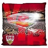 VfB Stuttgart Kissen - Stadion - rot Kuschelkissen, Sofakissen, Dekokissen - Plus Lesezeichen Wir...