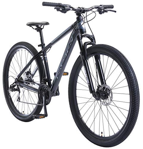 BIKESTAR Hardtail Mountain Bike in Alluminio, Freni a Disco, 29' | Bicicletta MTB Telaio 17' Cambio Shimano a 21 velocità, sospensioni | Blu