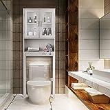 BestComfort Over The Toilet Cabinet Storage, Bathroom Space Saver, Organizer Over Toilet Storage, Freestanding Above The Toilet Shelves Rack Unit (67'' H)