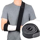 FEIGO Armschlinge, Verstellbare Schlinge, Leicht Armschlaufe Schulterschlinge Medizinische Immobilisiert Schulterstütze für Arm Handgelen Ellenbogen Schwarz (175x6cm)