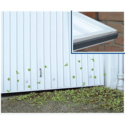 Wenko 7409500 Garagen-Schmutzfänger, selbstklebend, Gummi, 500 x 1,1 x 2 cm, schwarz