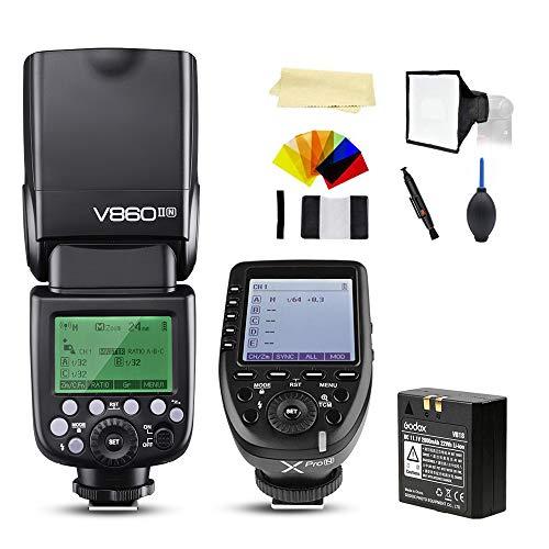 Godox V860II-N i-TTL 2.4G High Speed Sync 1/8000s GN60 Li-ion Battery Camera Flash Speedlite Light Compatible for Nikon Cameras & Godox XPro-N Wireless Flash Trigger Transmitter