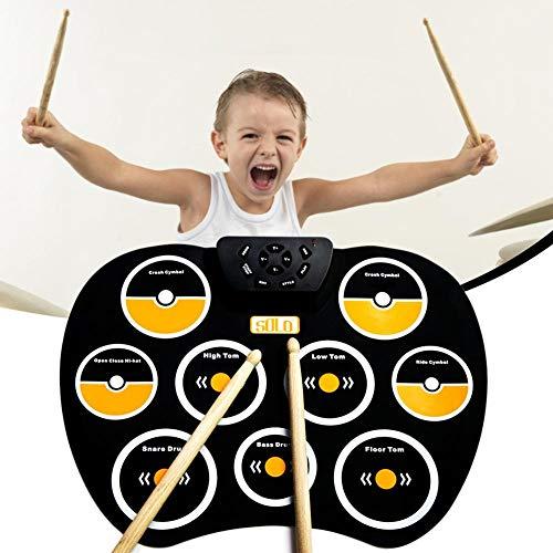 Currentiz Anfänger Elektronisches Schlagzeug Kinder Spielzeug Mit Kopfhörerbuchse Eingebaute Lautsprechertrommel Pedale Für Kinder Kinder Anfänger