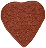 Paper Parachute UMCS098 Leaf Heart Cling Rubber Stamps, 2.75' by 2.75', Red