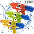"(Pack of 6) Water Gun 9.25"" Water Soaker Blaster Long Range Squirt Gun Swimming Pool Kids Boys Girls Adults, Party Favors Water Outdoor Fighting Toys"