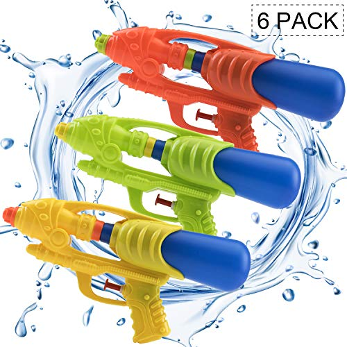 (Pack of 6) Water Gun 9.25' Water Soaker Blaster Long Range Squirt Gun Swimming Pool Kids Boys Girls...