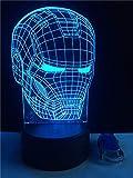 Cartoon Kopf 3D Tischlampe Kinder Spielzeug Geschenk Schlafzimmer Nachtlicht USB LED Nachtlicht Mehrfarbige Dekoration Festival Spielzeug Beleuchtung