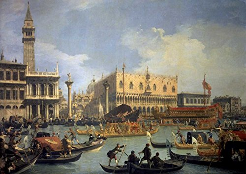 Posterazzi Collection The Betrothal of The Venetian Doge to The Adriatic Poster Print by Canaletto (14 x 10)