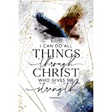 Wood Plaque with Inspiring Quotes 6 in x 9 in - Elegant Vertical Frame Wall & Tabletop Decoration | Easel & Hanging Hook | I can do All Things Through Christ who Gives me Strength. Philippians 4:13
