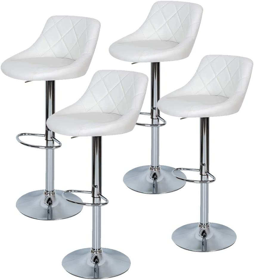 We OFFer at cheap prices Outlet SALE Adjustable Bar Stools Set of 4 Modern PU Height Leather Adjusta