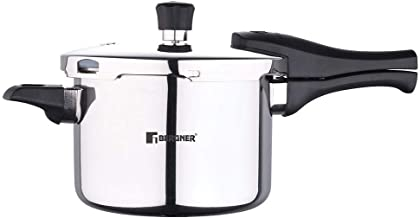 Bergner Argent Elements Tri-ply Stainless Steel Unpressure Cooker With Outer Lid (3.5 Ltrs., Silver)