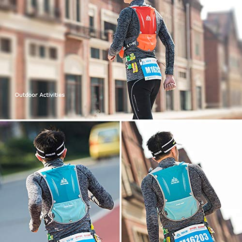 AONIJIE Hydration Backpack Vest, 5L Capacity, Multi-Pocket Design, Breathable and Lightweight, Pack for Outdoor Sports - Running, Cycling, Climbing and Hiking, Only Vest, Black