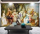 3D Fototapete 3D Effekt Europäische Klassische Gemälde Paläste Hintergrund Mauer Tapete Vlies Wandbild Wohnzimmer Hintergrundbilder Wanddeko