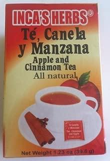 Inca's Te Canela y Manzana (Apple and Cinamon Tea) Single Box 1.23oz - Product of Peru