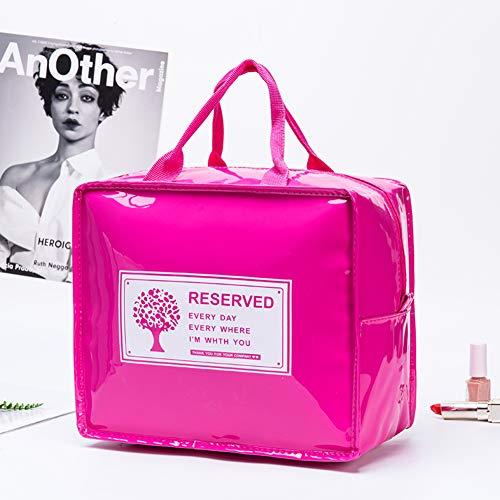 Voyage Sacs Cosmétiques Pour Femmes,Portable Mode Sac De Toiletry Cuir Sac De Maquillage Étanche Organisateur D'accessoires Sac Multifonction Stockage Pour Filles Pink-small
