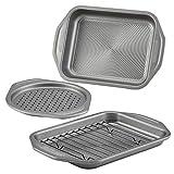 Circulon Total Bakeware Nonstick Toaster Oven & Personal Pizza Pan Baking Set, 4-Piece