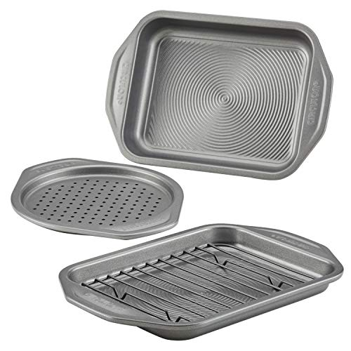 Circulon Total Bakeware Nonstick Toaster Oven & Personal Pizza Pan Baking Set, 4-Piece