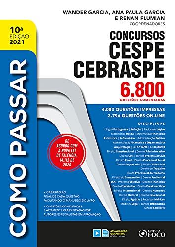 Concursos CESPE CEBRASPE: 6.800 Questões Comentadas (Como Passar)