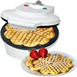 ETC Shop Bomann WA 5018 - Piastra per waffle con dispositivo antisurriscaldamento, 1200W, bianca