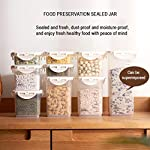 YQQWN-Food-Storage-Organization-Sets-Cereal-Storage-Container-Airtight-Food-Storage-Container-BPA-Free-Plastic-Cereal-Dispenser-Lock-Design-Makes-it-Easy-to-Save-Tick-Mark-Grain-Storage-Tank