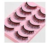 ZZDJ Pestañas postizas Pestañas postizas de Cristal Maquillaje Desnudo Natural Delgado con pestañas postizas Maquillaje de Etapa Gruesa Maquillaje Nupcial Pestañas postizas A