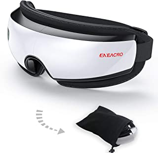 ENEACRO Wireless Eye Massager for Dry Eye Dark Circles Eye Bags with Heating,Air Pressure Vibration and Bluetooth,Therapy Shiatsu Massager for Fatigue Relief Eye Strain and Improve Sleep