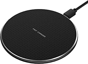 Fast Wireless Charging Charger Pad | Ultra-Thin Slim Design for Qi Compatible Smartphones iPhone 8/8 Plus/X/XS/XS Max/XR Samsung Galaxy S9/S9 Plus/S8/S8 Plus/S7/Note 8/9
