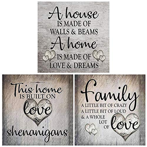 HaiMay 3 Pack DIY 5D Diamond Painting Kits for Adults Paint by Number Kits Full Drill Painting Diamond Pictures Arts Craft for Wall Decoration, Family Love (12x12inches)