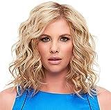 Pelucas onduladas cortas rizadas 100% resistente al calor Fibra sintética Bob Hair Raíces oscuras Pelucas rubias para mujeres negras 14 pulgadas chenghuax