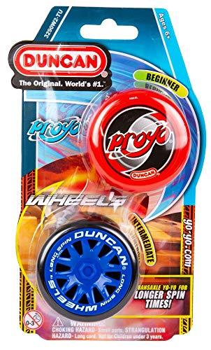 Duncan Toys 3290W2-TU Yo-Yo Combo Pack, ProYo & Wheels Yo-Yo, Beginner/Intermediate Level, 2 Yo-Yo...