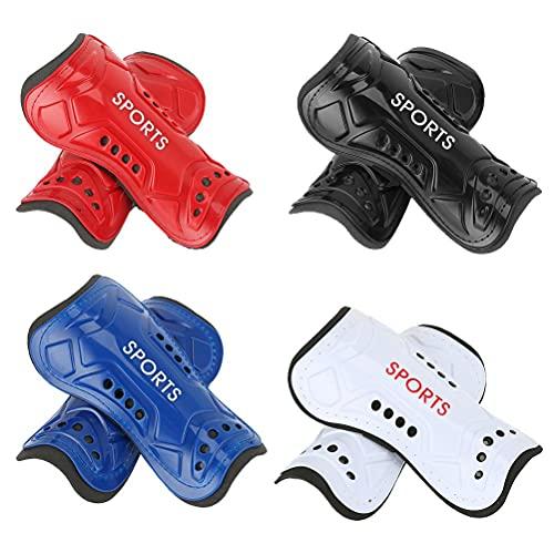 Settoo 4 Paar Fußball Schienbeinschoner für Kinder Erwachsene, Fußballspiele rutschfeste Beinschutz Fussball Shin Guards Kinder für 8–13 Jahre, Schutzausrüstung