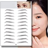DXZ 4D Hair-Like Authentic Eyebrows,2 Pack Semi-Permanent Imitation Ecological Lazy Natural Tattoo Eyebrow Stickers Waterproof Makeup Tool for Woman & Man (E12)