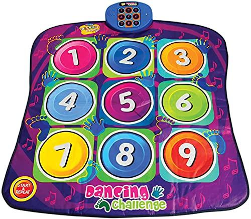 Digitale Tanzmatte-Dancing Challenge Playmat-Kleinkindspielzeug Baby Musical Spiel Teppichmatte Musikinstrument Spielzeug Touch Play Keyboard Gym Play Mat