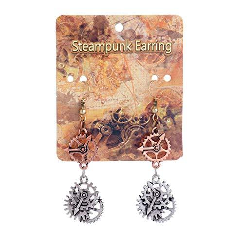 Gioielli, bellissimo piercing all'orecchio, orecchini a bottone, Orecchinis, Vintage Bronze Steampunk Cogwheel Wristwatch Gear Orecchinis Goth Punk Jewelry 1#