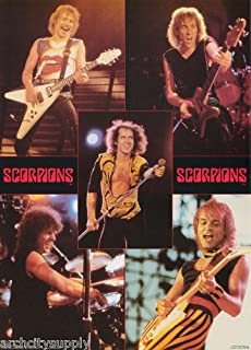 RhythmHound The Scorpions Poster Band Shot Collage