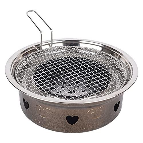 YNLRY Parrilla de carbón para el hogar, parrilla de carbón de leña, parrilla redonda comercial (color: E, tamaño: 38 x 15 x 15)