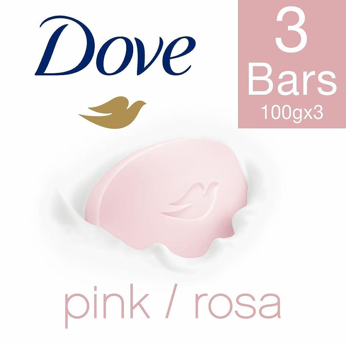 受け継ぐ残り物塗抹Dove Pink Rosa Beauty Bathing Bar, 100g (Pack of 3)