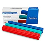 FlintRehab Premium Quality Flex Therapy Bar (3 Pack) - Relieve Tennis & Golfers Elbow Tendonitis Pain - Arm Exercise Wrist & Hand Strength Forearm Grip - 3 Variable Resistance Bars - Injury Recovery