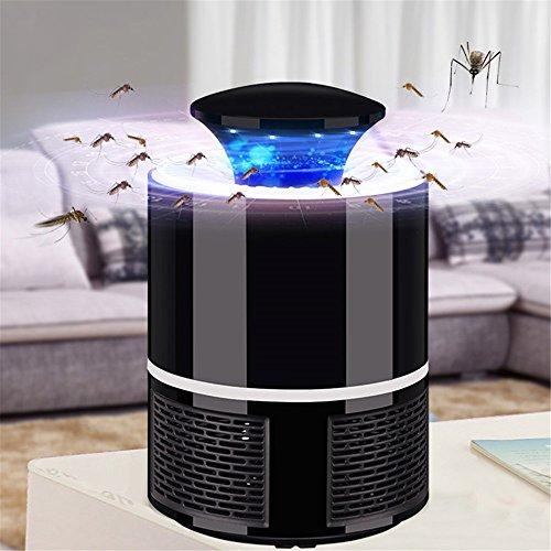 Ruiyue Trampa Mosquitos para interiores, Mosquito Killer Trampa para mosquitos USB Power para uso en el hogar / oficina al aire libre para interiores Mosquito antimosquitos Fly Fly Catcher volador ( Color : Black )