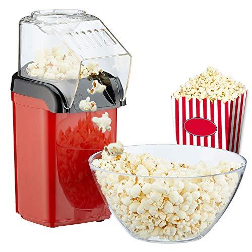 Macchina per popcorn per la casa, potente preparazione senza grassi con aria calda, 1200 W, con misurino incluso
