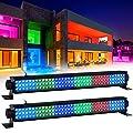 "LED Wash Lights, LaluceNatz 20"" 25W 108LEDs RGB Stage Wash Light Bar DMX Control Auto Play Strobe Effect Uplighting for Wedding Church DJ Party Stage Lighting(2 pack)"