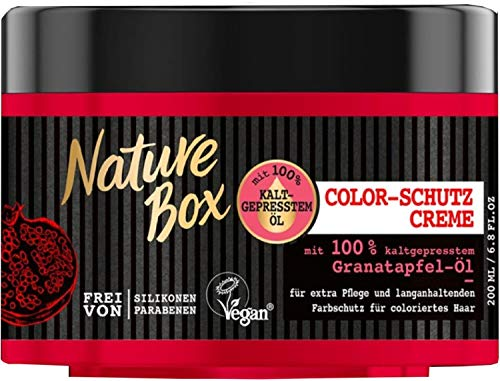 NATURE BOX Kur Color-Schutz Creme Granatapfel-Öl, 3er Pack (3 x 200 ml)