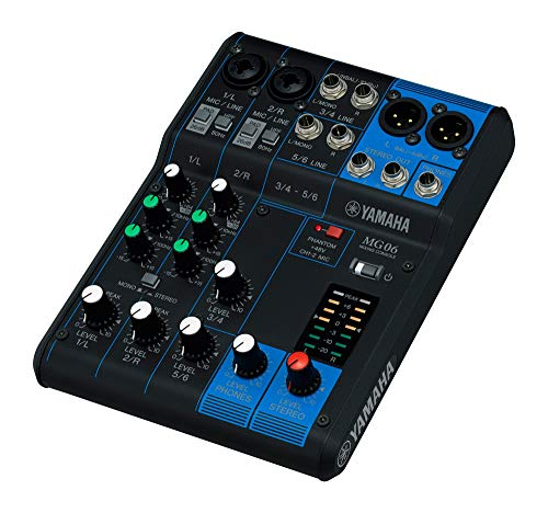 top 10 small audio mixer Yamaha MG06 Compact Stereo Mixer 6 Inputs