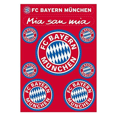 Bayern München Aufkleberbogen 9er Set, Aufkleber Logo Sticker kompatibel FCB - Plus Lesezeichen I Love München
