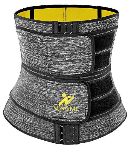 NINGMI Damen Taillenmieder Zum Abnehmen Korsett Cincher Shaper Body Sauna Schwitzgürtel Waist Trainer Bauchweggürtel für Gewichtsverlust